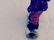 snowboarding baby 18month old Miss Lyndsey Lee