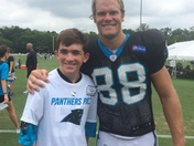 Picture of a Panther and a  huge fan