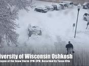 University of Wisconsin Oshkosh Snow Storm Time Lapse Video