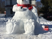 Giant snow bear in Monkton