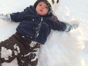 Everett and Victoria snow fun!