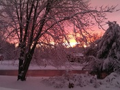 Beautiful sunset in Brentwood nh