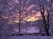Sunset after snow
