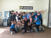 Simpsonville Jazzercise pounding our morning workout