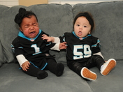 Babies upset over Carolina Panthers loss in Super Bowl