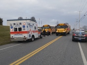Vehicle accident involving a school bus in East Donegal township
