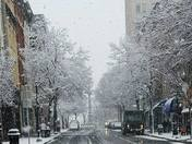 City in the snow
