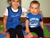 Panther Fans 4 Life - Savannah and Wyatt