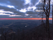 Sunrise from Alleghany County