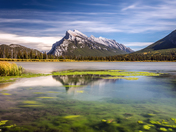 Mount Rundle from Second Vermilion Lake
