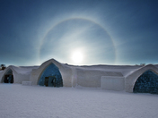 Sundog over Ice Hotel
