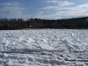 Ice jam on the Kennebec Feb 18, 2016