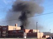 Fire behind Aliquippa middle school