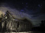 Rural Church Under the Stars