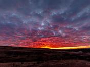 Beginning of the Sunrise over Glenbow