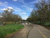Walk along the bike trail