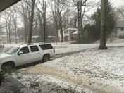 Hail storm in Greer