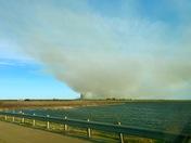 Grassfire NW of El Reno, Oklahoma