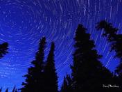 Star Trail near the Hoodoos