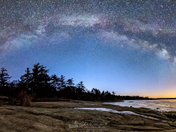 Night, Light and Ice (Killbear Provincial Park)