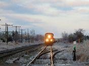 Train on side track