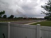 Lighting strike causes fire near homes Windermere Florida