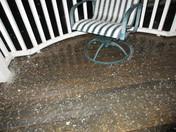 Saturday night's hail in Chestertown