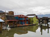 Float homes in Cowichan Bay