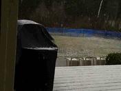 Sun, then hail, the sun again in Amherst!