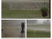 Monday night rain & thunderstorms collage