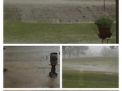 Storm pictures collage from the Deerfield Subdivision in Madison County