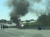 Car fire on I-95 South Baltimore