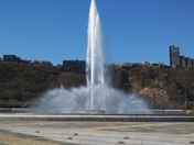 It's officially spring... the fountain is running!