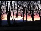 Sunset on Parker Hill in Rockingham VT