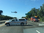 Accident at palm coast prky exit