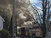Fire on Main Street gray