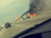 Bus Fire on 95