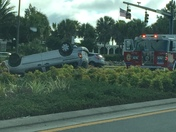 Vehicle overturned in The Villages