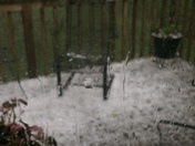 Hail in Southern Platte County