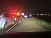 Wreck on 235 south/ I 35 south changeover