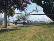 2 cars hit 2 power poles (on the corner of Cook Riolo and Vineyard)