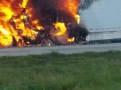 I4 Truck on fire