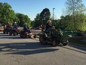 Senior Prank 2016. Another lawnmower story for Huntsville High School