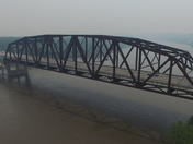 Spring Lake Park and South Omaha Bridge on a Hazy Day