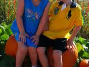 Blake and Lexi at the Pumpkin Patch