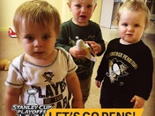 One year olds ready for the pens game
