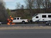 Pickup truck / RV Fire