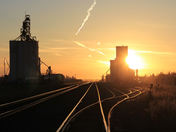 Rail Yard Sunset