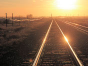 Tracks and Poles - Sundown