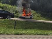 Vehicle fire U. S. 52